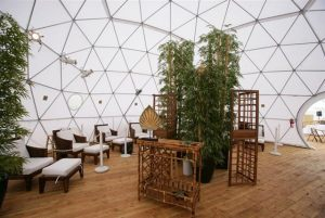 One of our beautiful treatment tents